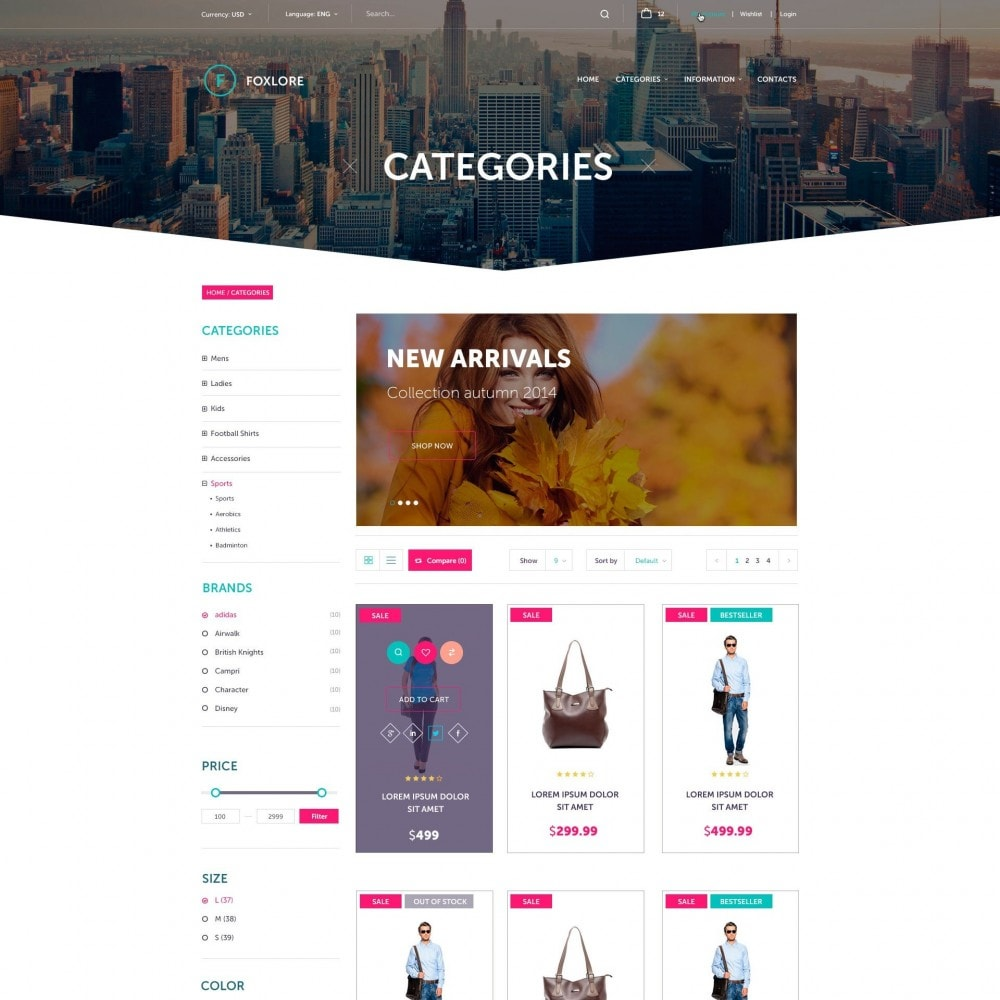 theme - Fashion & Shoes - Foxlore - Luxury for a Сlothing Store - 2