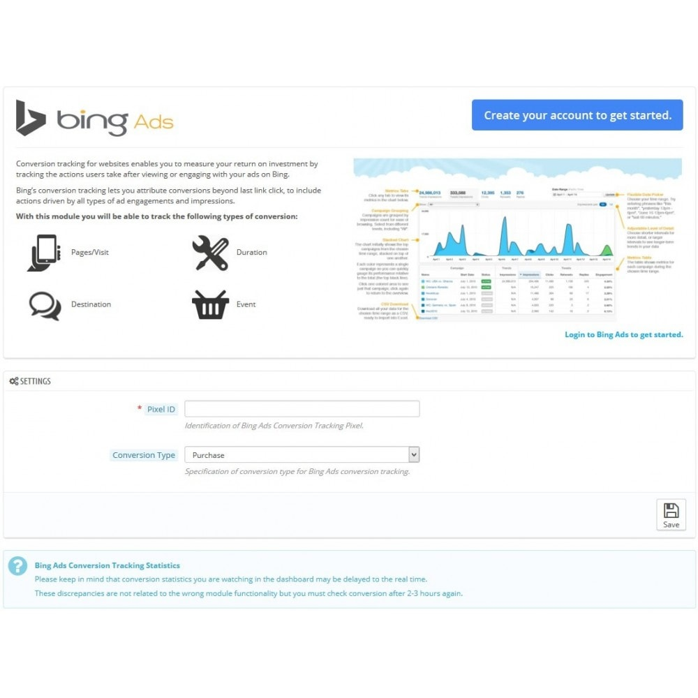 module - Analytics & Statistics - Bing Ads Conversion Measurement (Tracking Pixel) - 3