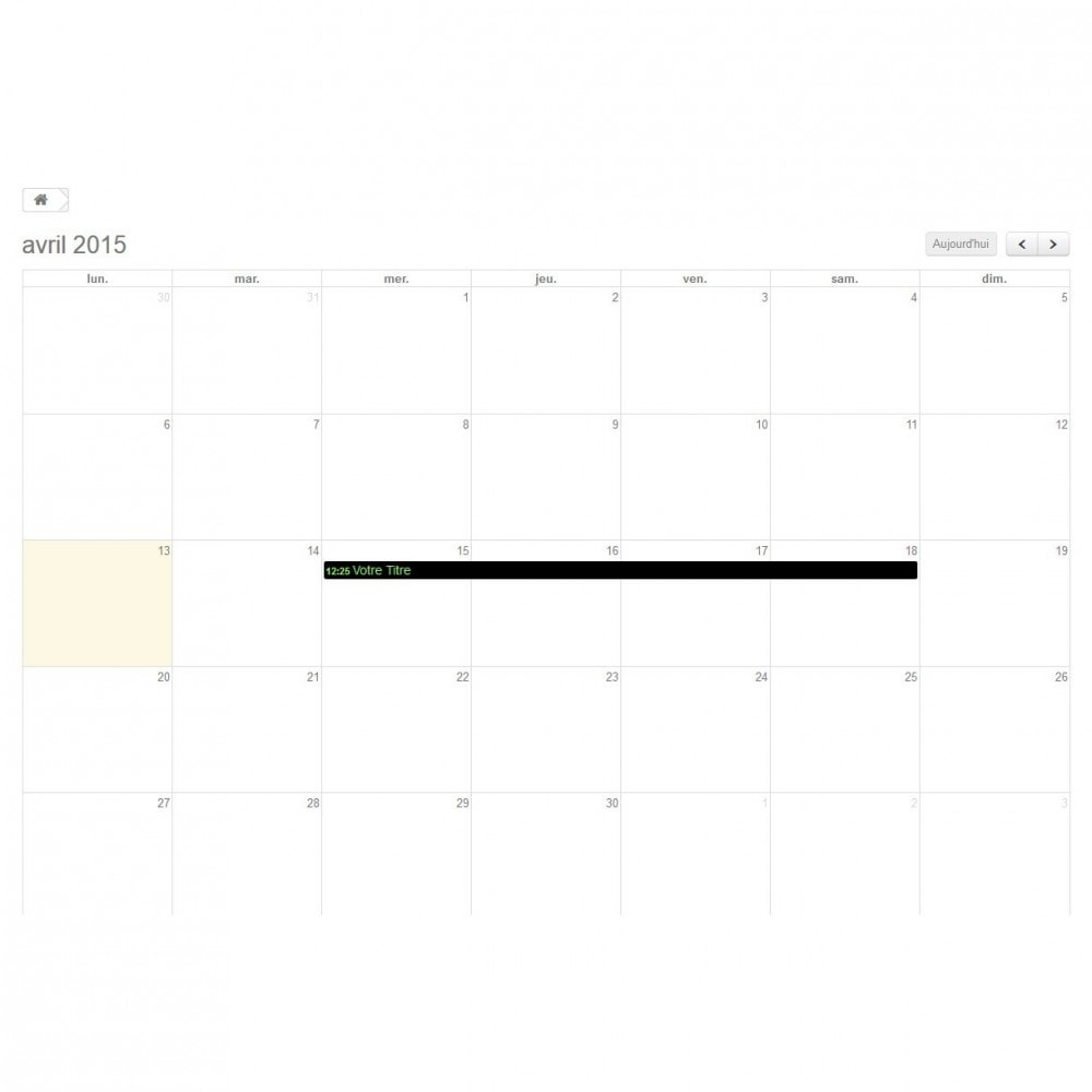 module - Blog, Forum & Nieuws - Dynamic Events Calendar - 1