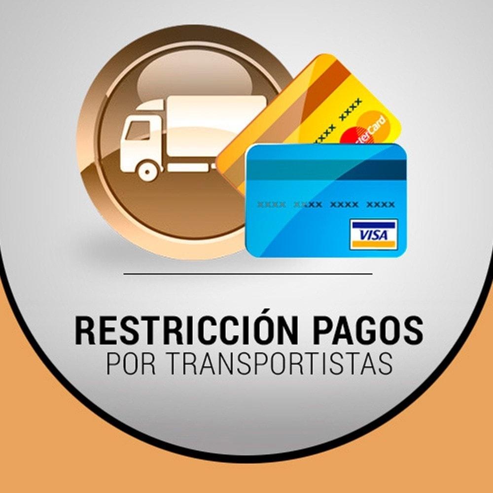 module - Otros métodos de pago - Restricción de pagos por envío - 1