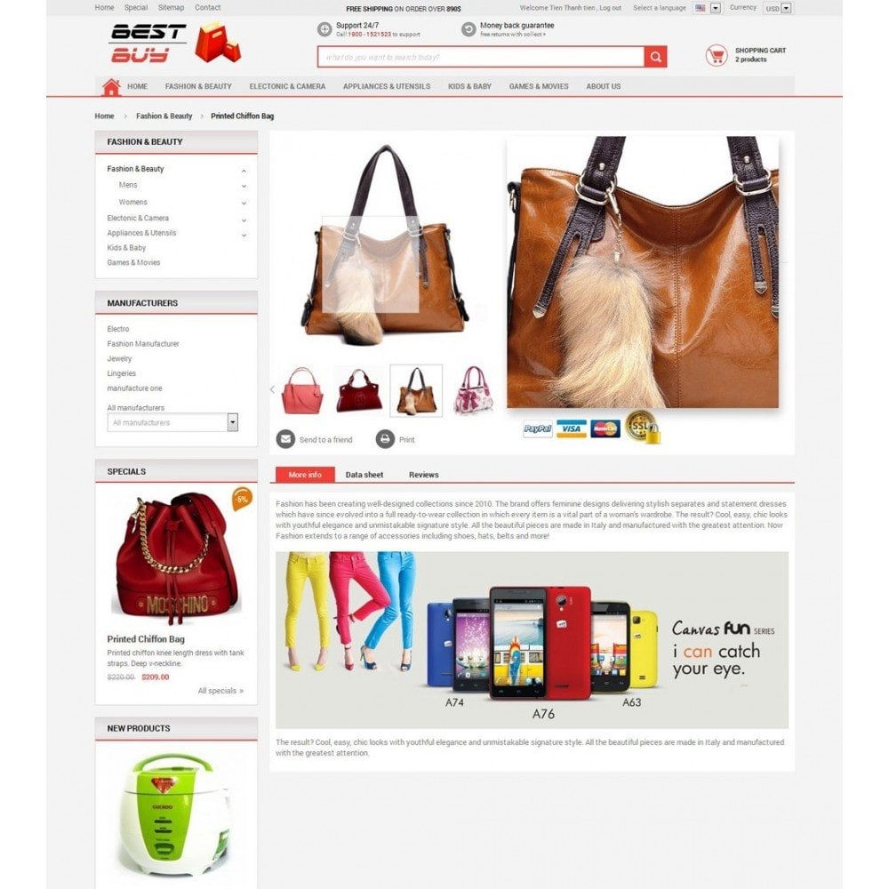 theme - Eletrônicos & High Tech - Responsive Best Buy Prestashop Theme - 7