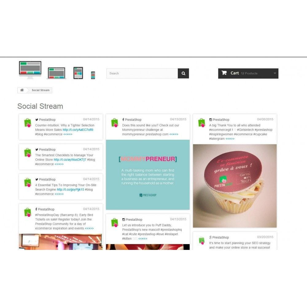 module - Widgets de Redes Sociais - Presta Social Stream - 3