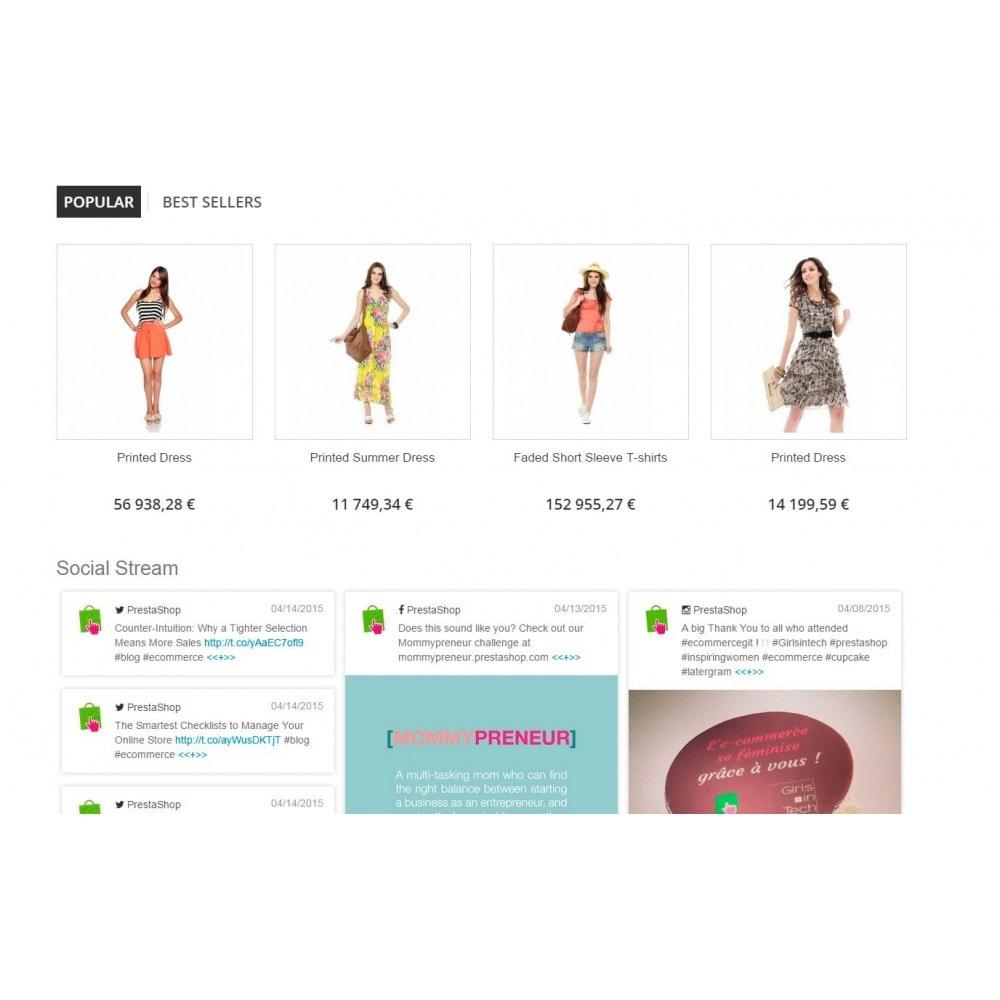 module - Widgets réseaux sociaux - Presta Social Stream - 2