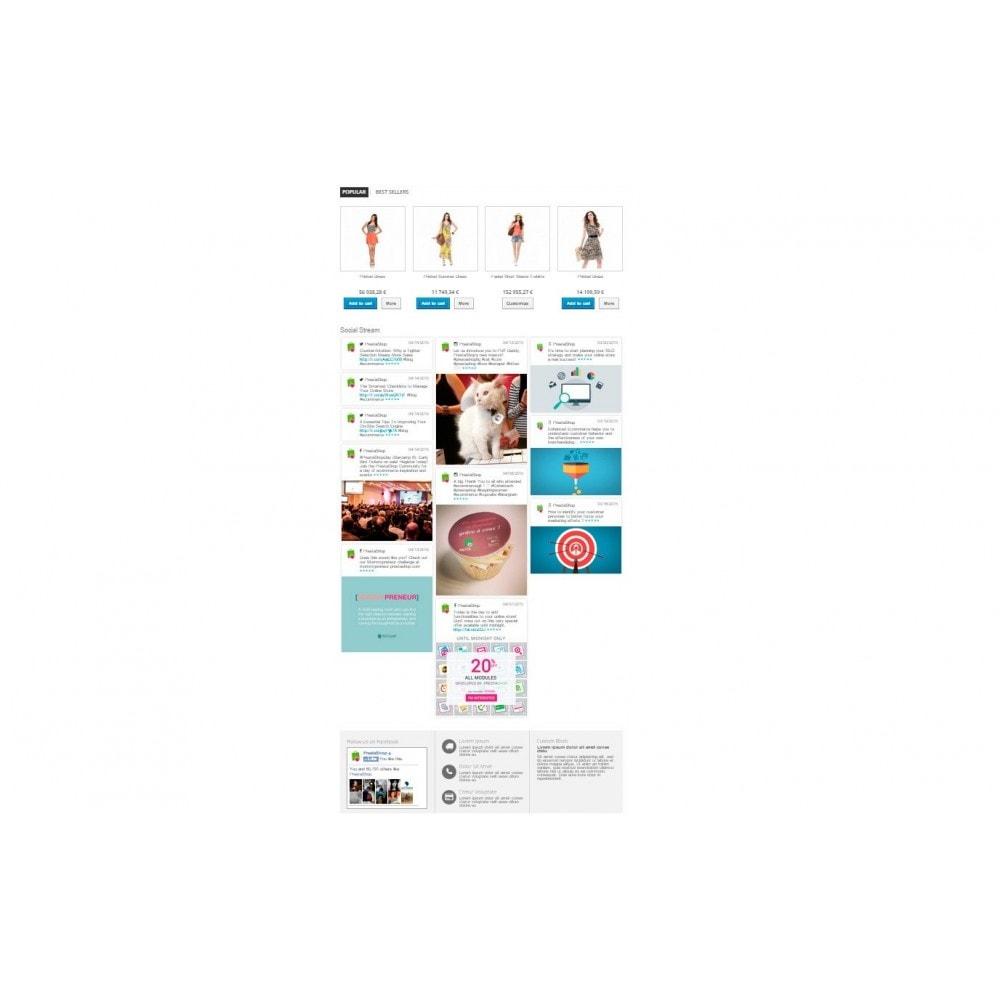 module - Widgets réseaux sociaux - Presta Social Stream - 5