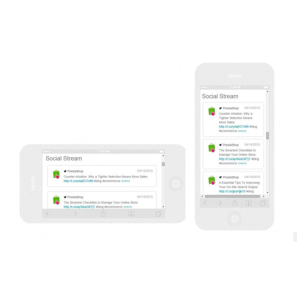module - Widgets réseaux sociaux - Presta Social Stream - 6