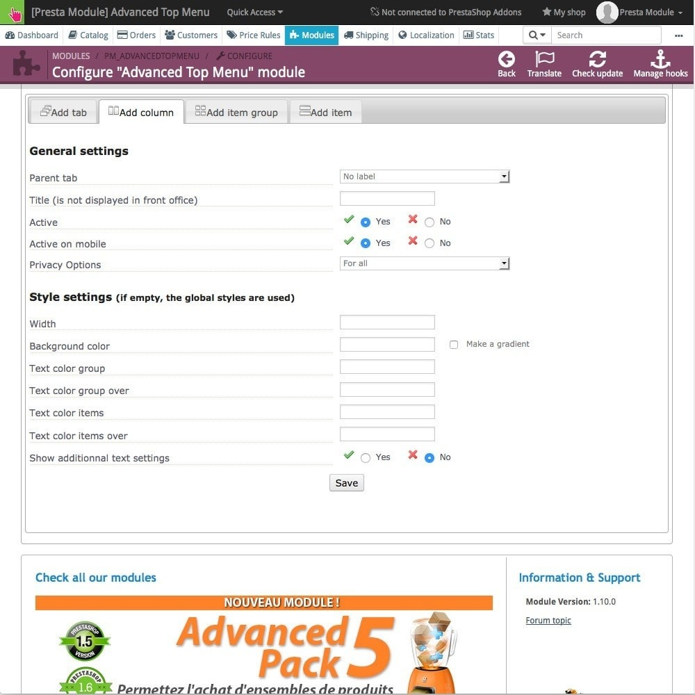 module - Front office features - Advanced Top Menu - Responsive - 5