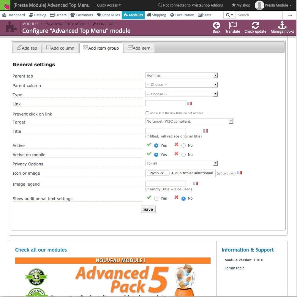 module - Front office features - Advanced Top Menu - Responsive - 6