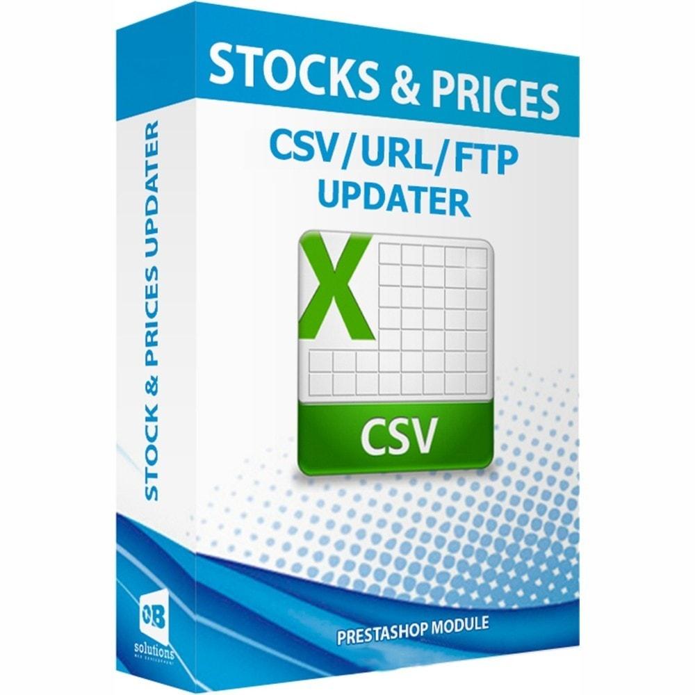module - Edición Rápida y Masiva - Actualizar stock y precios vía CSV/URL/FTP + Alertas - 1