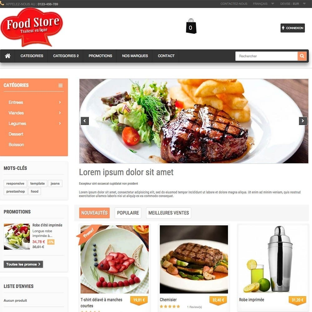 theme - Alimentation & Restauration - FoodStore - 6