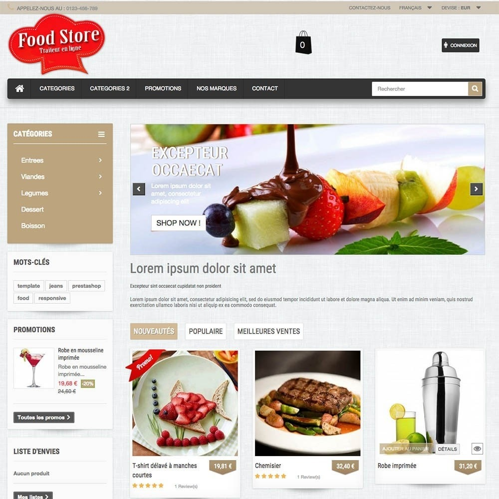 theme - Alimentation & Restauration - FoodStore - 8