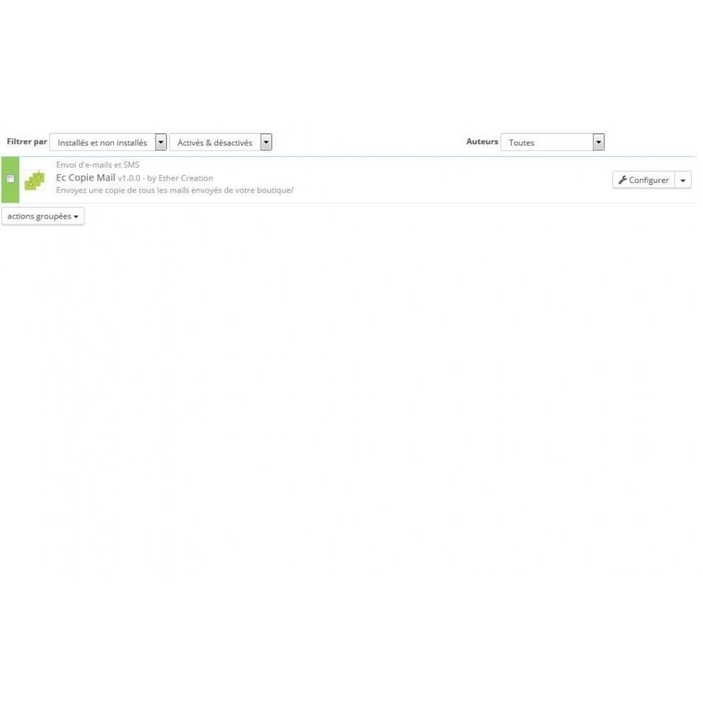module - E-mails & Notifications - Recevoir une copie des mails envoyés par votre boutique - 1