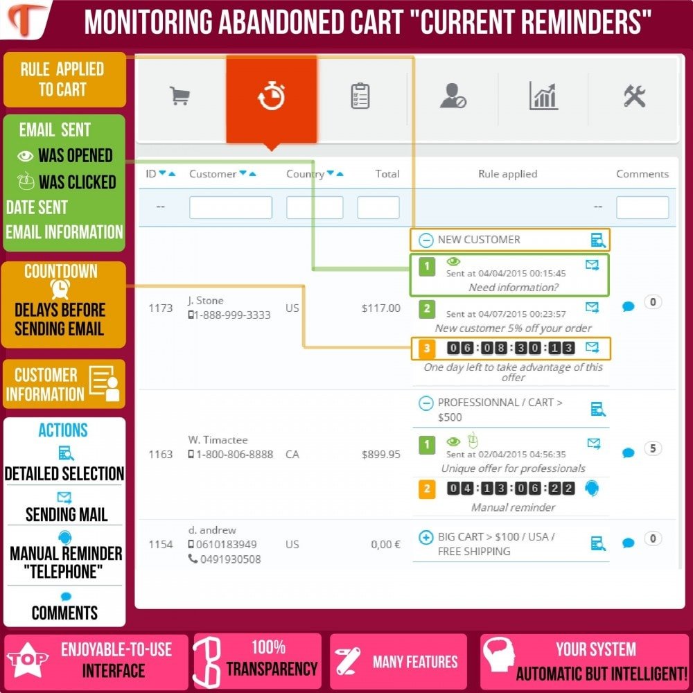 module - Remarketing & Achtergelaten winkelmanden - Smart Cart Reminder - 4