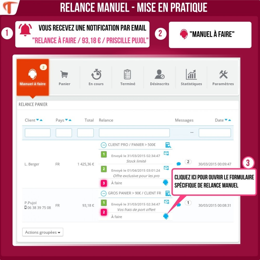 module - Remarketing & Paniers Abandonnés - Smart Cart Reminder / Relance Panier Intelligent - 8