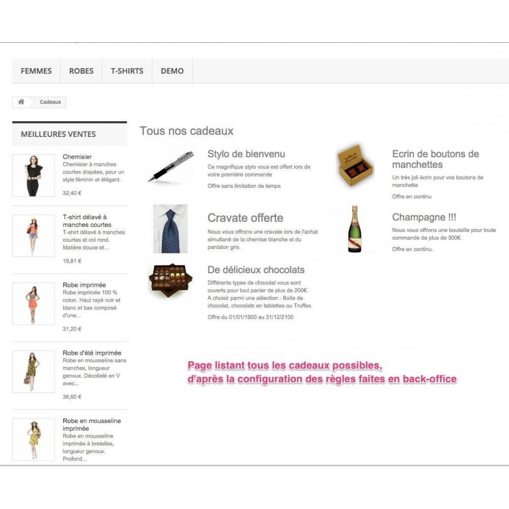 module - Promotions & Cadeaux - Olea Gift On Order - Ajout de Cadeaux au panier - 4
