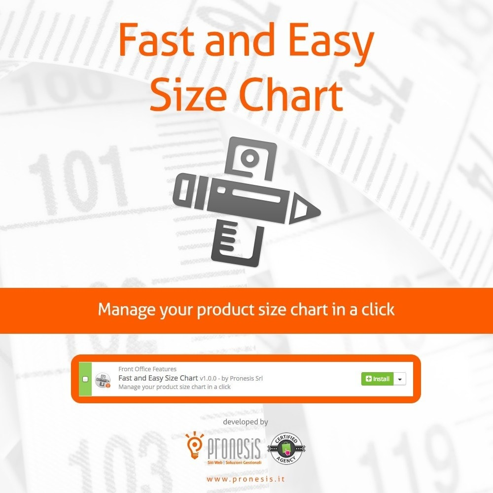 module - Размеры - Fast and Easy Size Chart - 1
