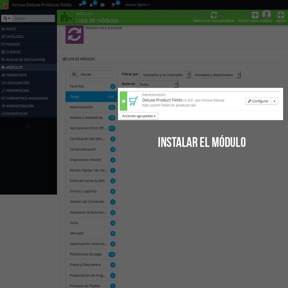 module - Informaciones adicionales y Pestañas - Pestaña con información extra en ficha de producto - 2