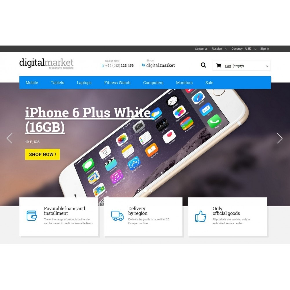 theme - Elektronika & High Tech - Digital Market Responsive Prestashop 1.6 Template - 3