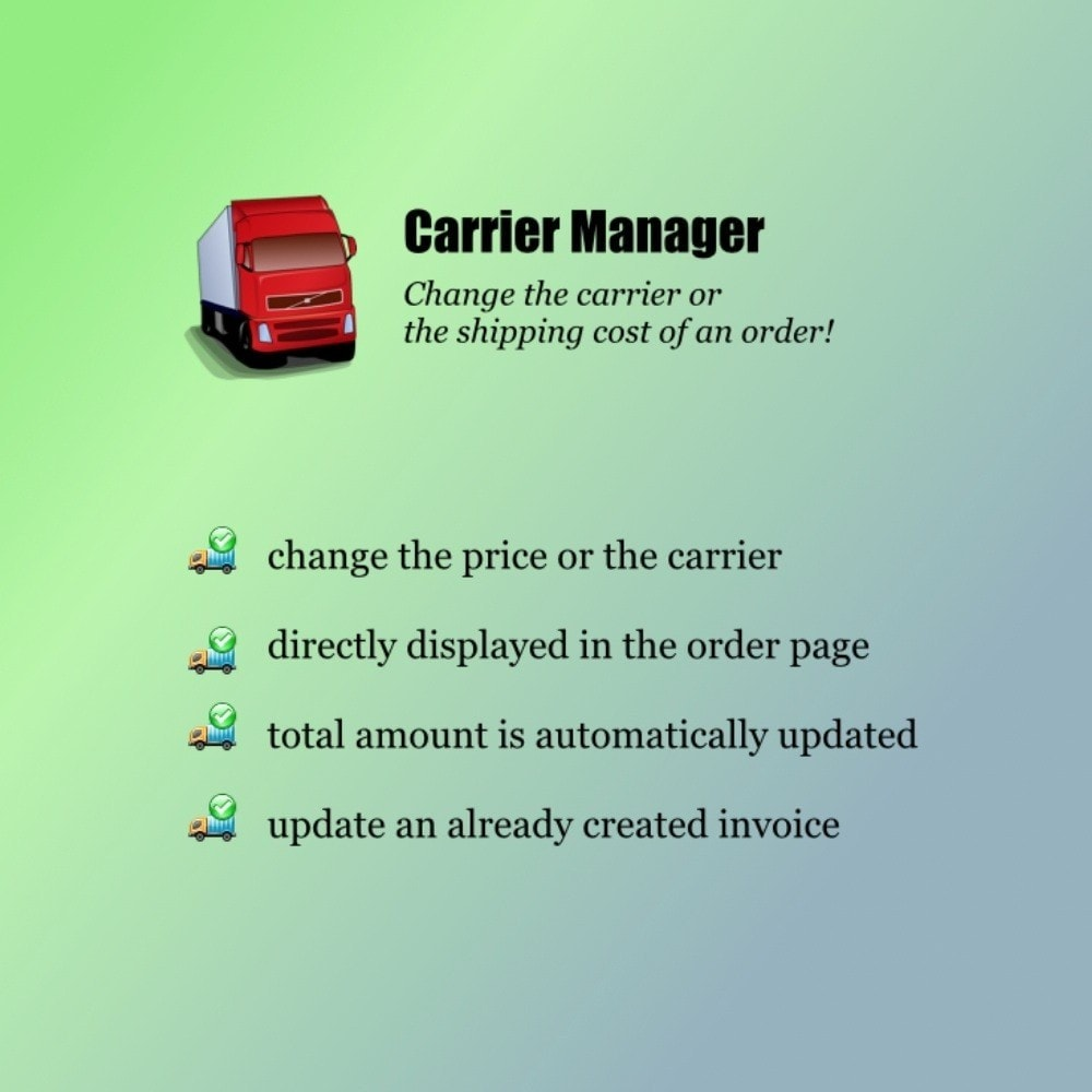 module - Corrieri - Carrier Manager - 1