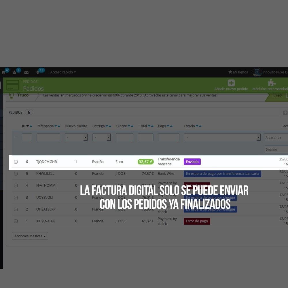 module - Contabilidad y Facturas - Factura Electrónica (cumplimiento normativa comercio) - 3