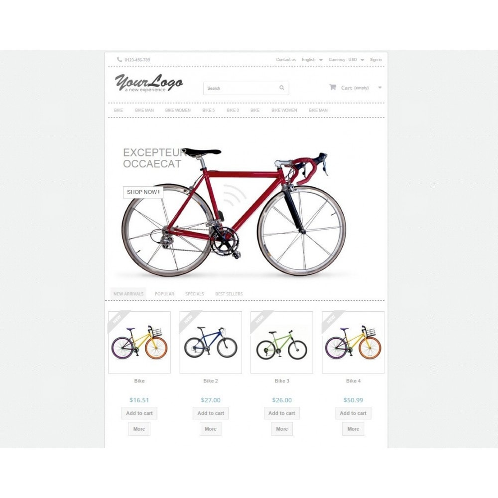 theme - Sport, Activiteiten & Reizen - Neutral, Sport and activities - Template Prestashop - 1