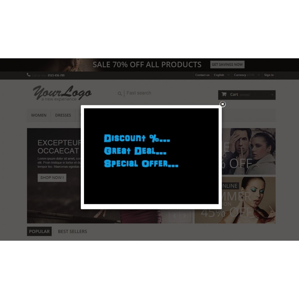 module - Dialoogvensters & Pop-ups - Pop-up Ad on Exit Pro - 1