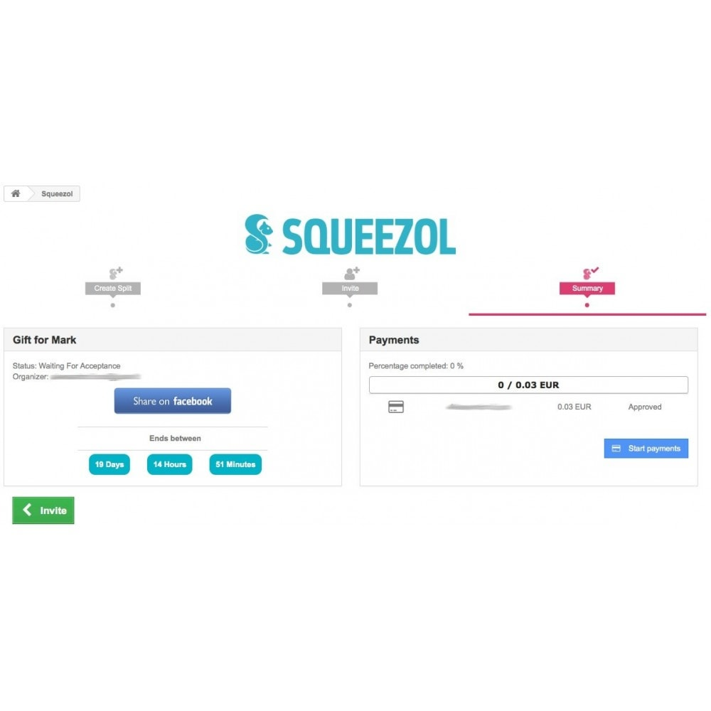 module - Autres moyens de paiement - Squeezol Split - Pay with Squeezol(split with friends) - 6