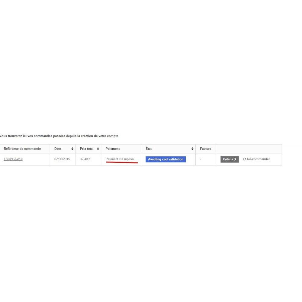 module - Autres moyens de paiement - Payments by M-Pesa , AirtelMoney, TigoCash - 6