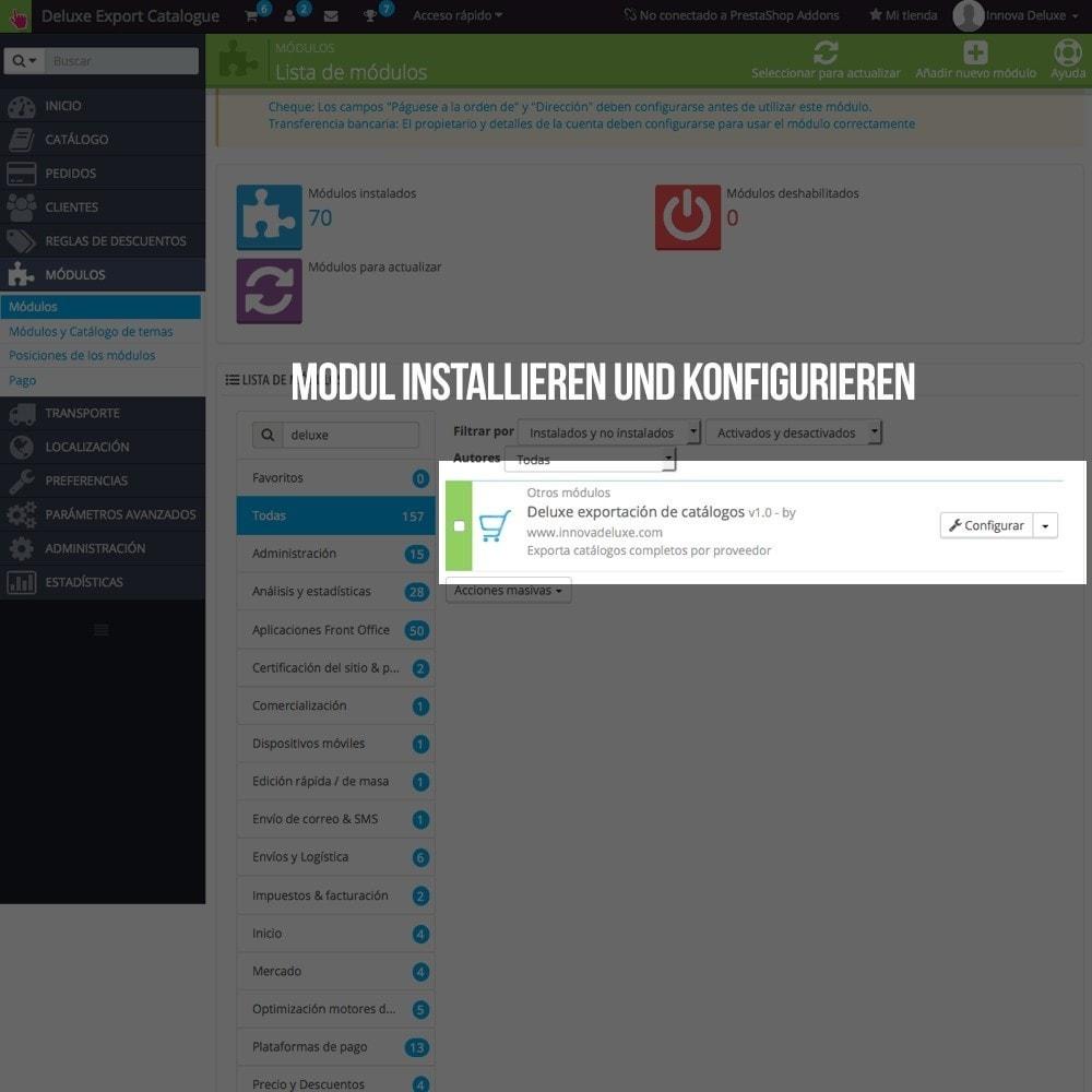 module - Daten Im-&Export - Katalogexporteur für Prestashop Importeur - 2