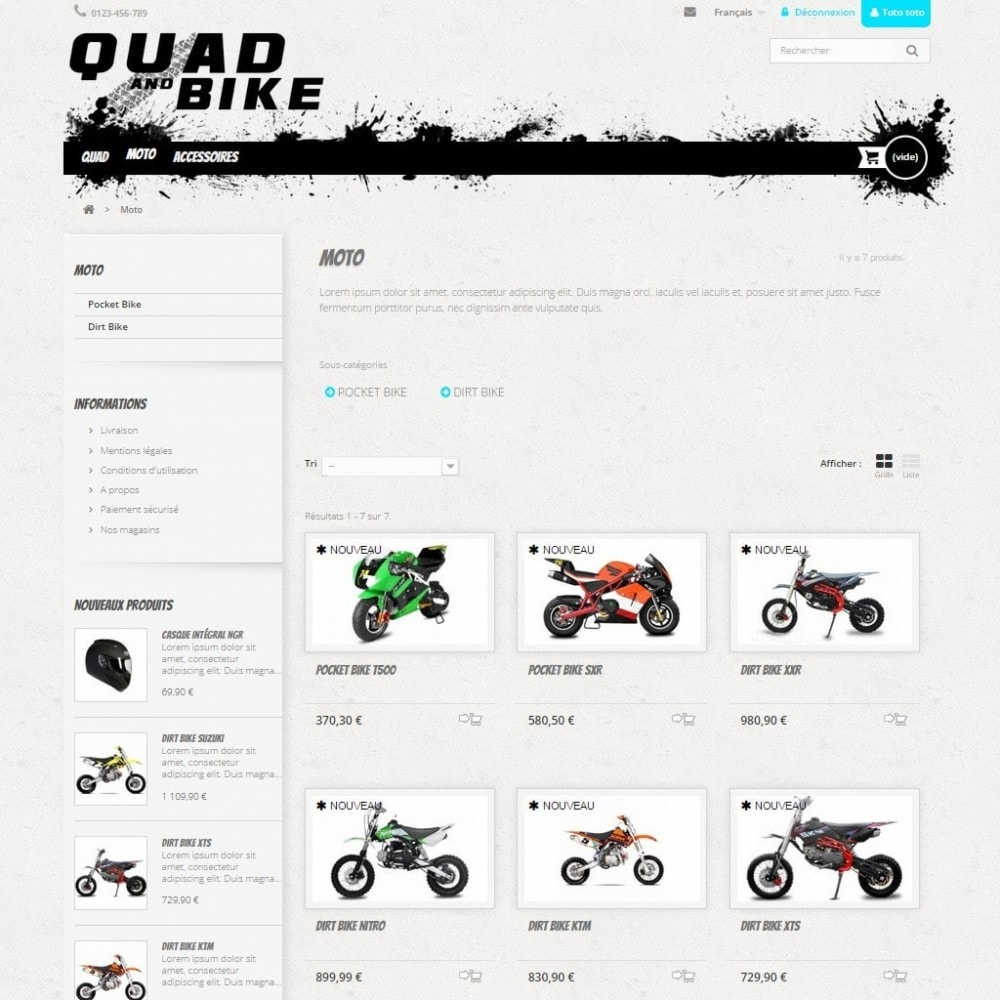 theme - Automotive & Cars - Quad and Bike - 4