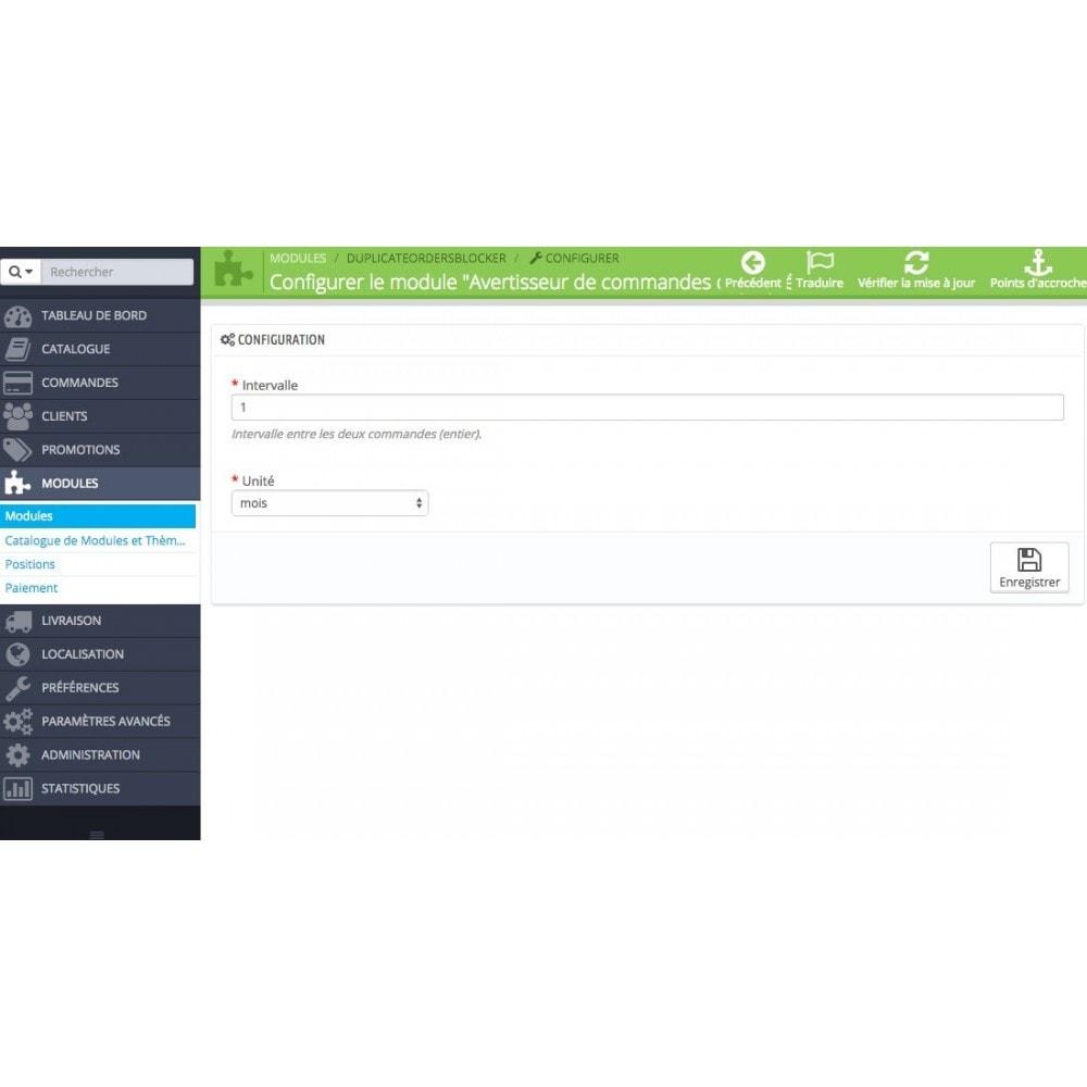 module - Inscripción y Proceso del pedido - Duplicate order - 3