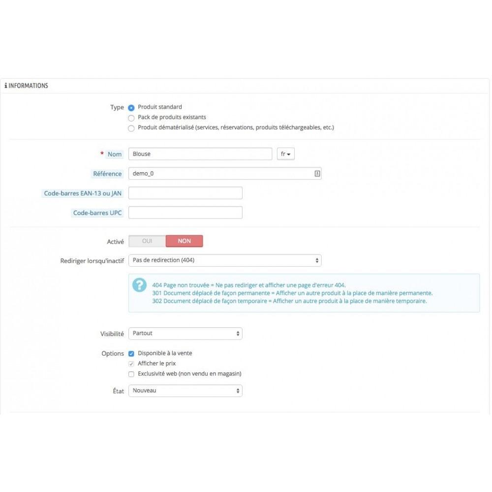 module - URL & Redirections - Redirection 301 des produits désactivés - 3