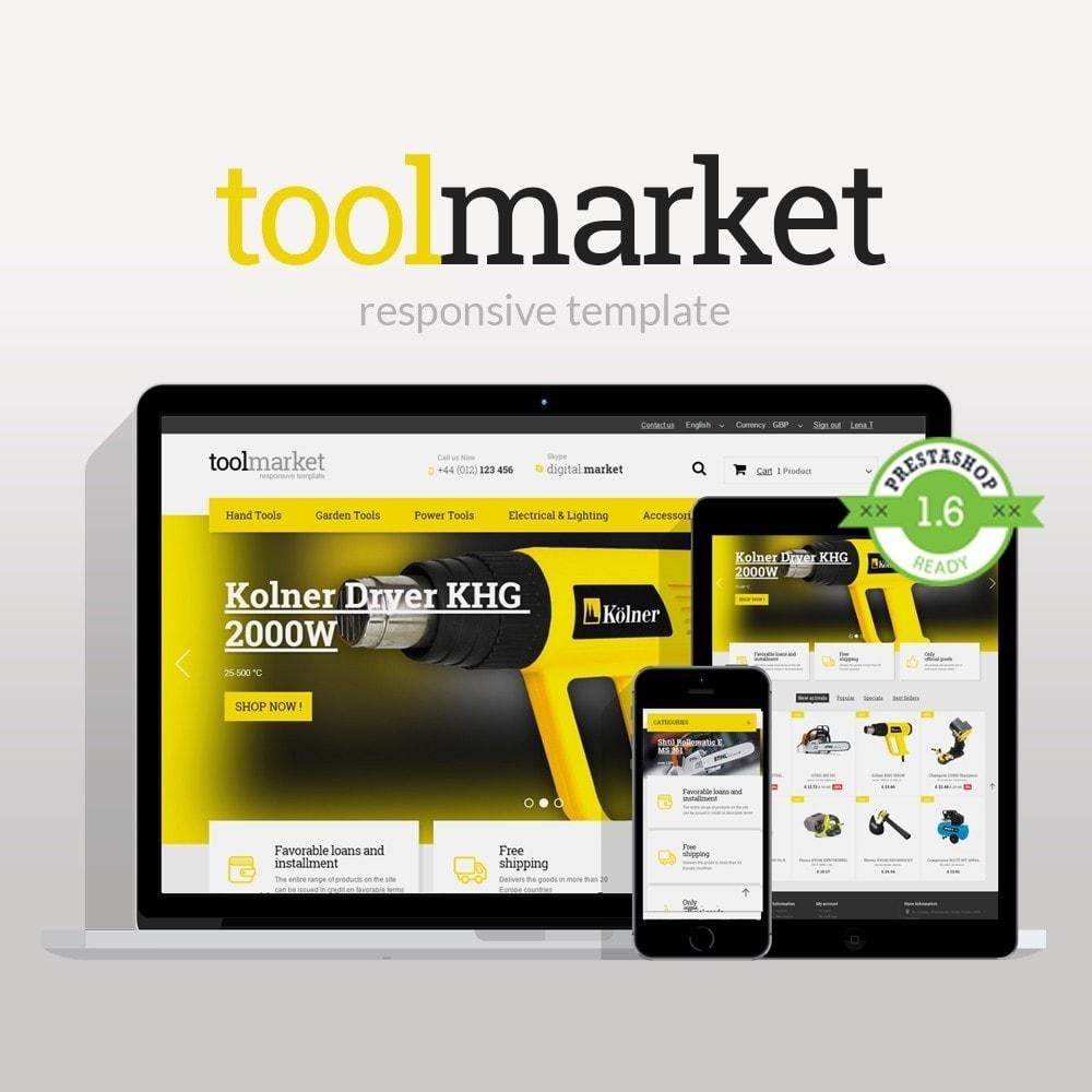 theme - Дом и сад - Tools Market Prestashop 1.6 Responsive Theme - 1