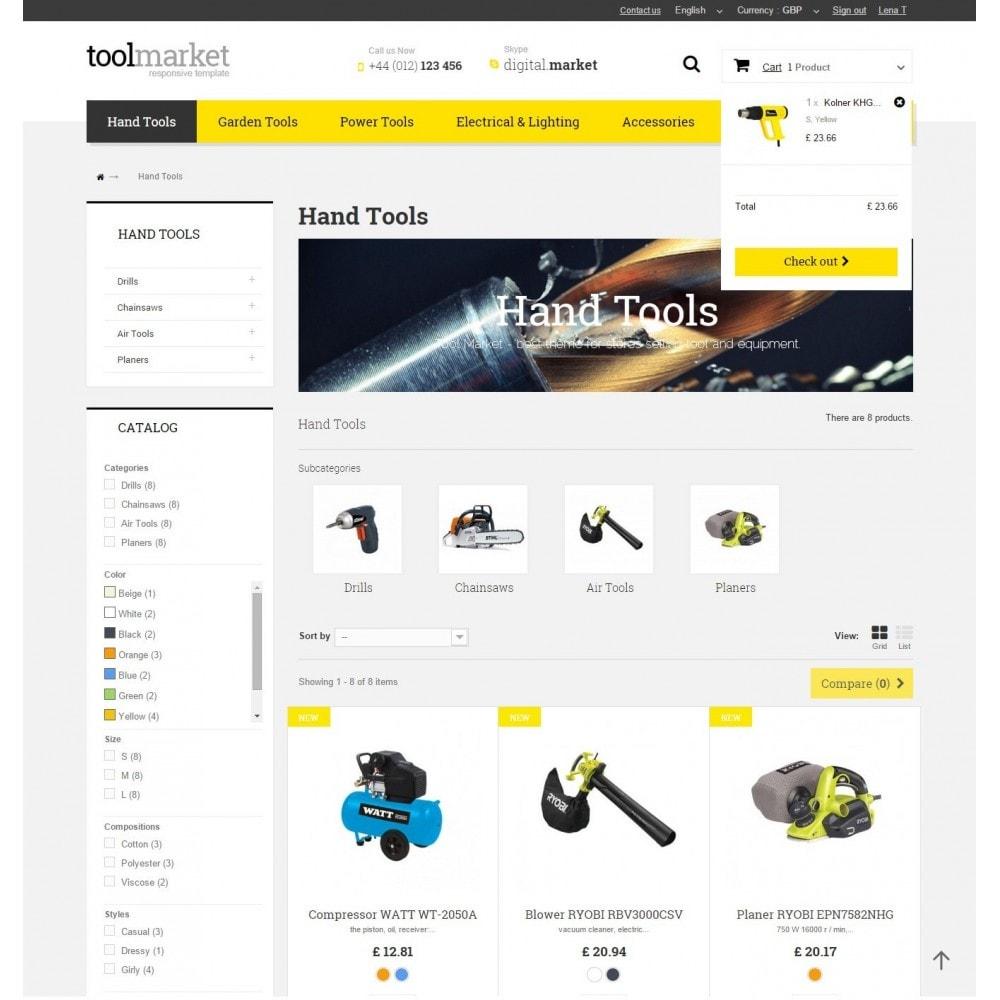 theme - Дом и сад - Tools Market Prestashop 1.6 Responsive Theme - 6