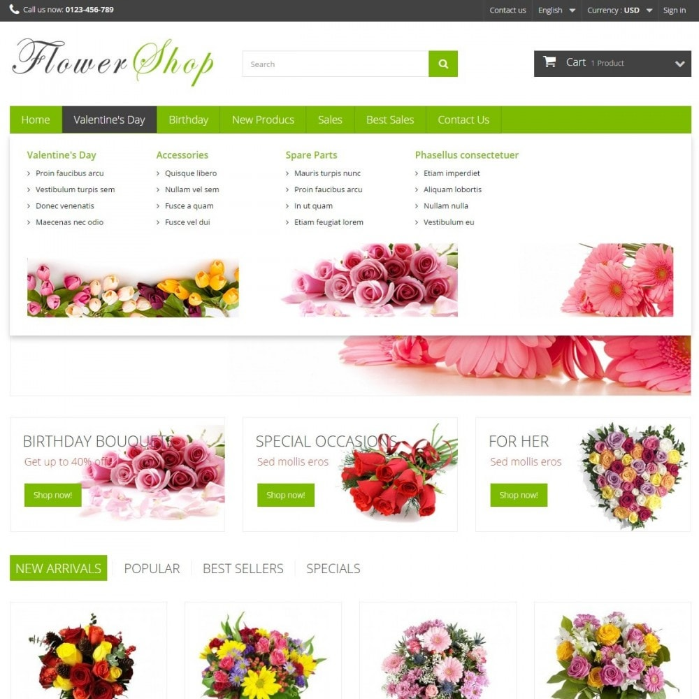 theme - Gifts, Flowers & Celebrations - FlowerShop - 3