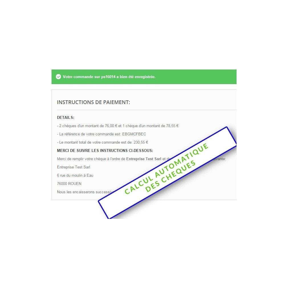module - Autres moyens de paiement - Paiment multiple par chèque - 4