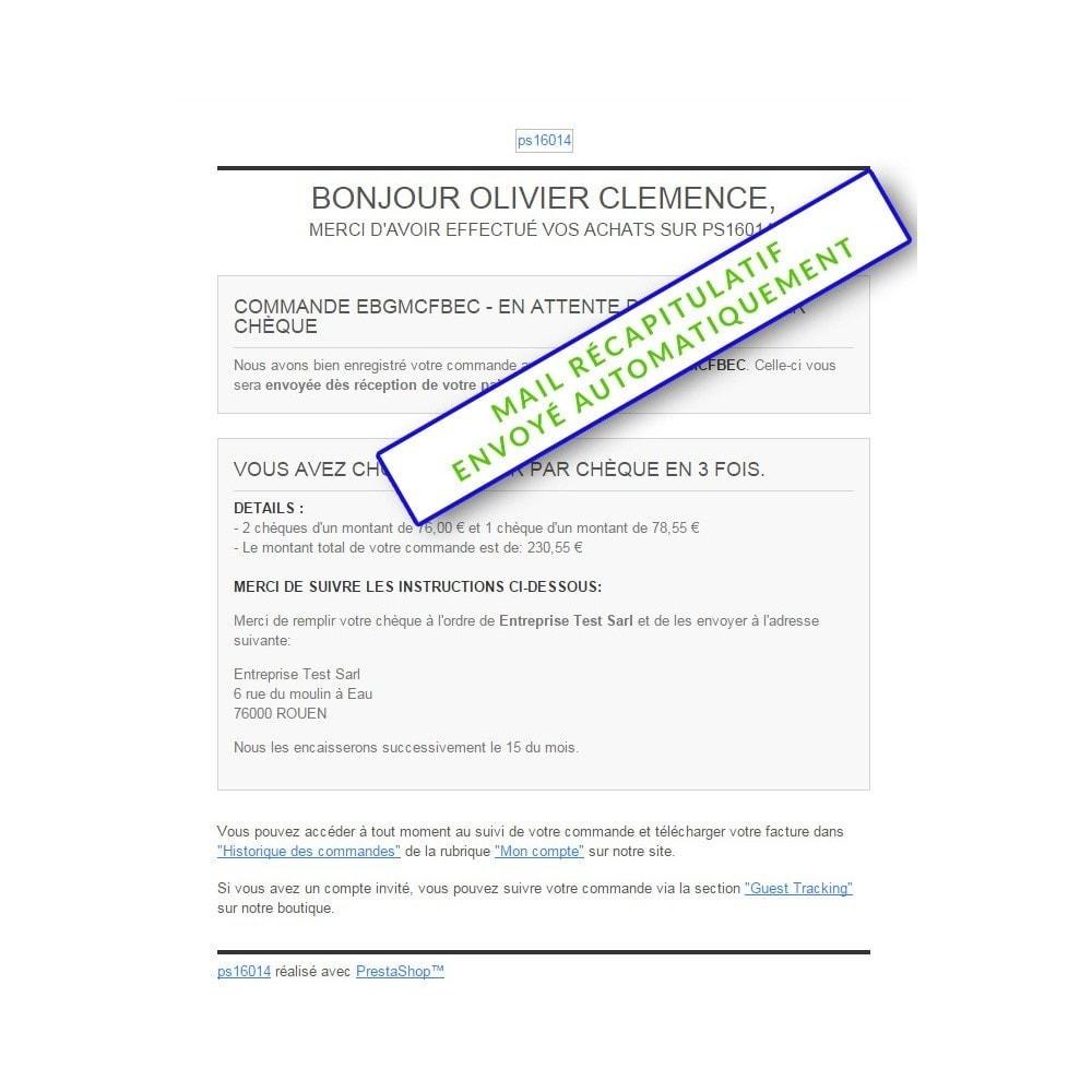module - Autres moyens de paiement - Paiment multiple par chèque - 5