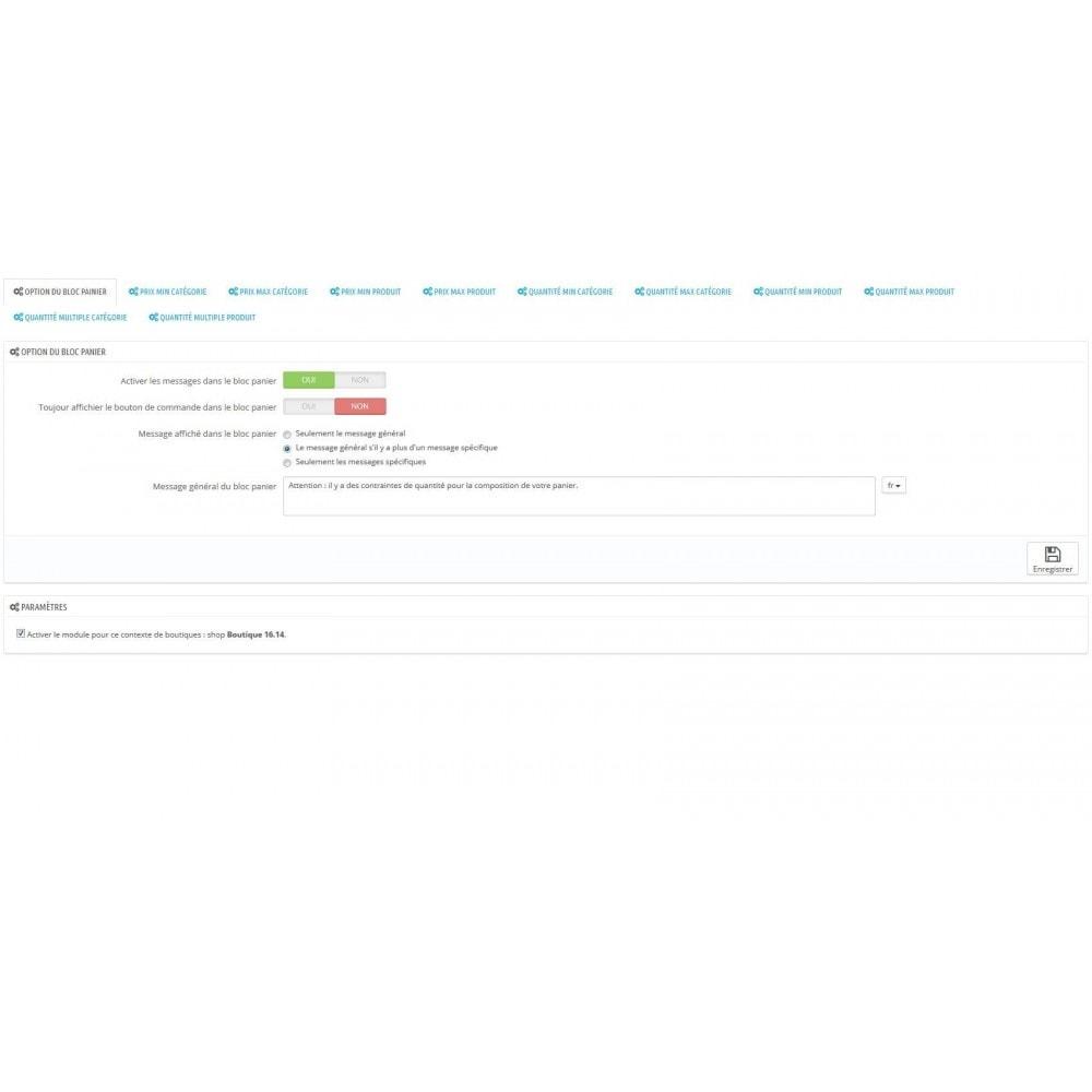 module - Inscription & Processus de commande - Règle de quantité et prix par groupe (min max multiple) - 1
