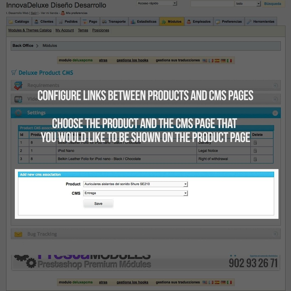 module - Additional Information & Product Tab - Information pages (CMS) in Product Tab - 2
