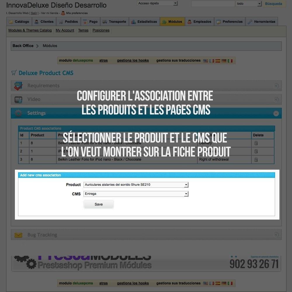 module - Information supplémentaire & Onglet produit - Pages CMS en onglets dans les fiches de produit - 2