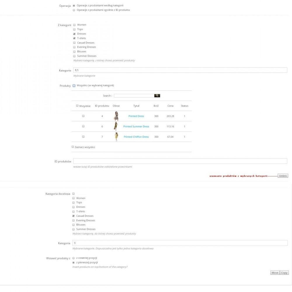 module - Szybkie & Masowe edytowanie - Masowe przemieszczenie produktów pomiędzy kategoriami - 2