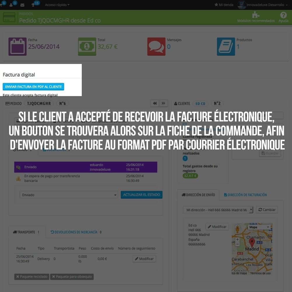 module - Comptabilité & Facturation - Facture électronique (réglementations commerciales) - 4