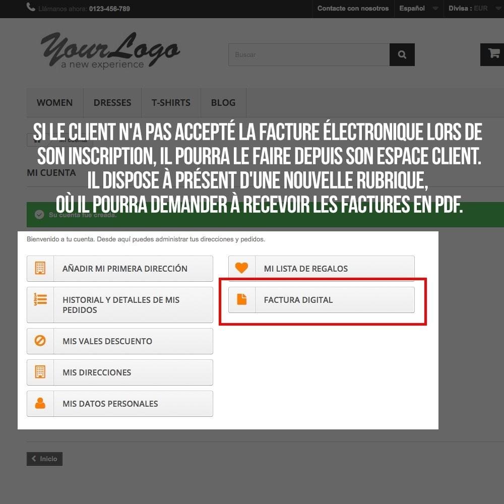 module - Comptabilité & Facturation - Facture électronique (réglementations commerciales) - 7