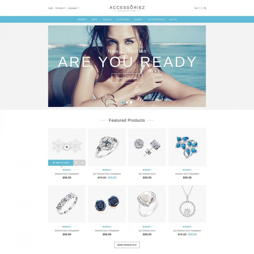 theme - Jewelry & Accessories - ET Accessories - Responsive Beauty & Jewelry PrestaShop - 1