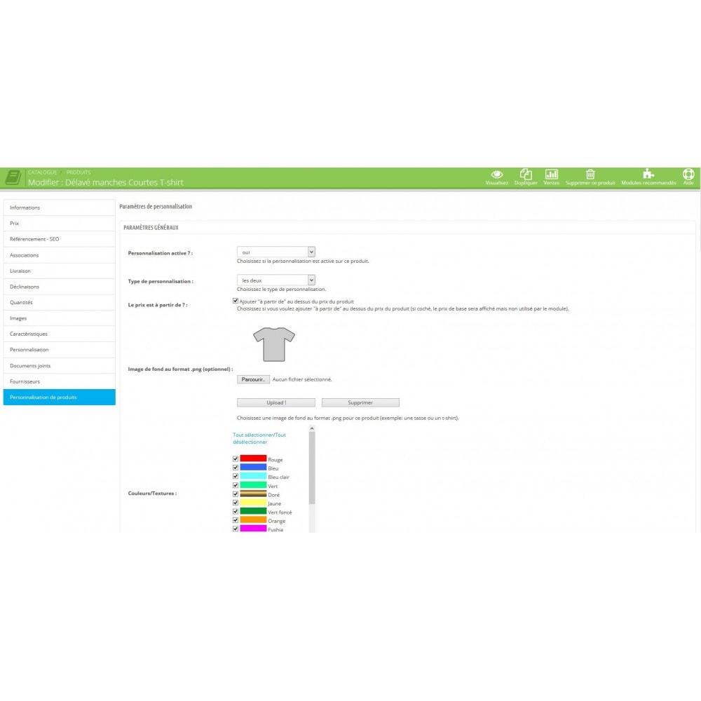 module - Déclinaisons & Personnalisation de produits - Personnalisation de produits - 2
