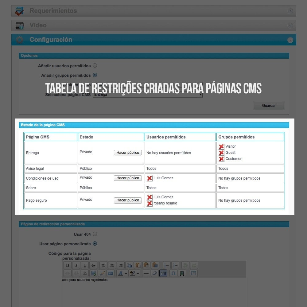 module - B2B - Páginas CMS privadas (Conteúdo Privado) B2B - 4