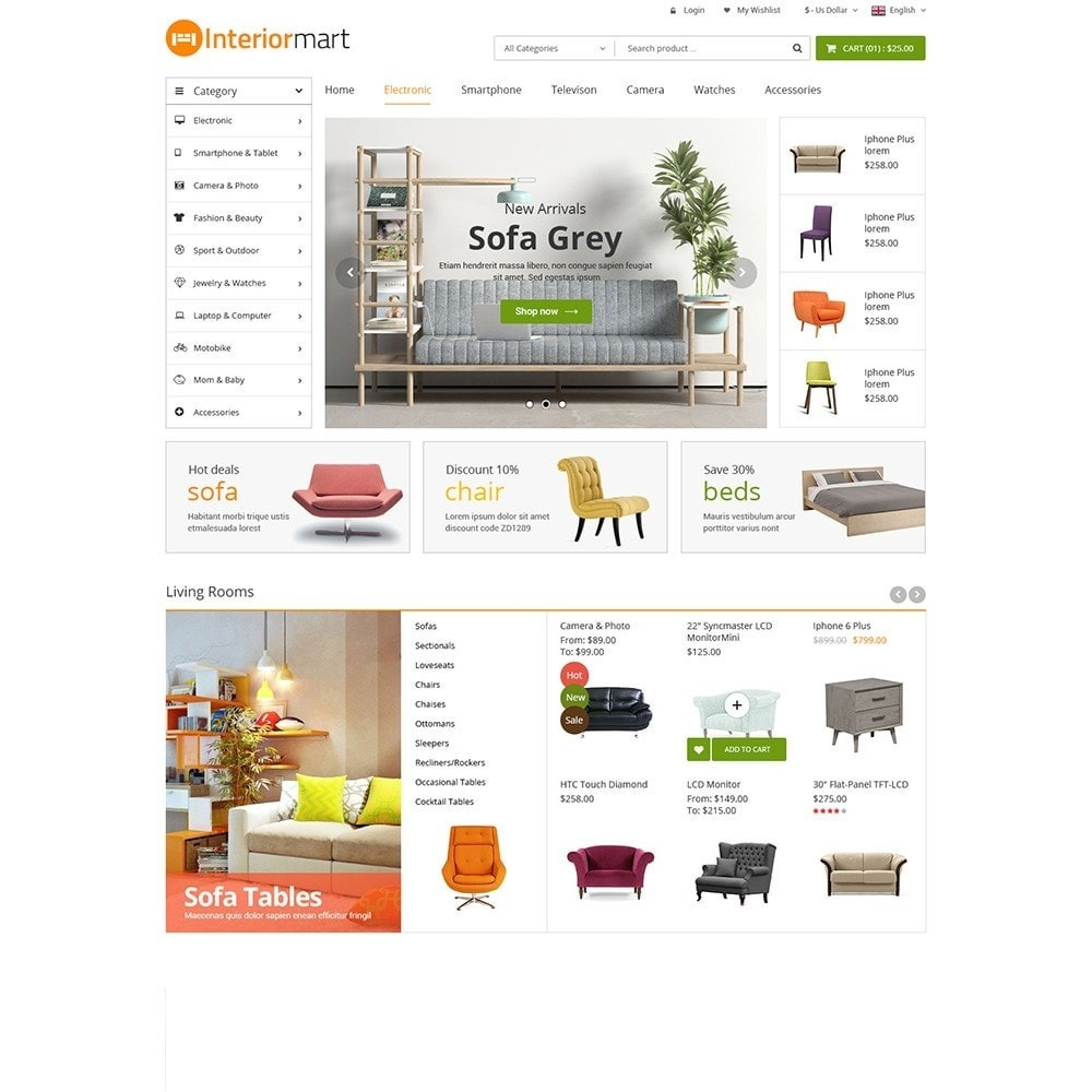 theme - Casa & Jardins - Funismart - Furniture Store Responsive PrestaShop - 2