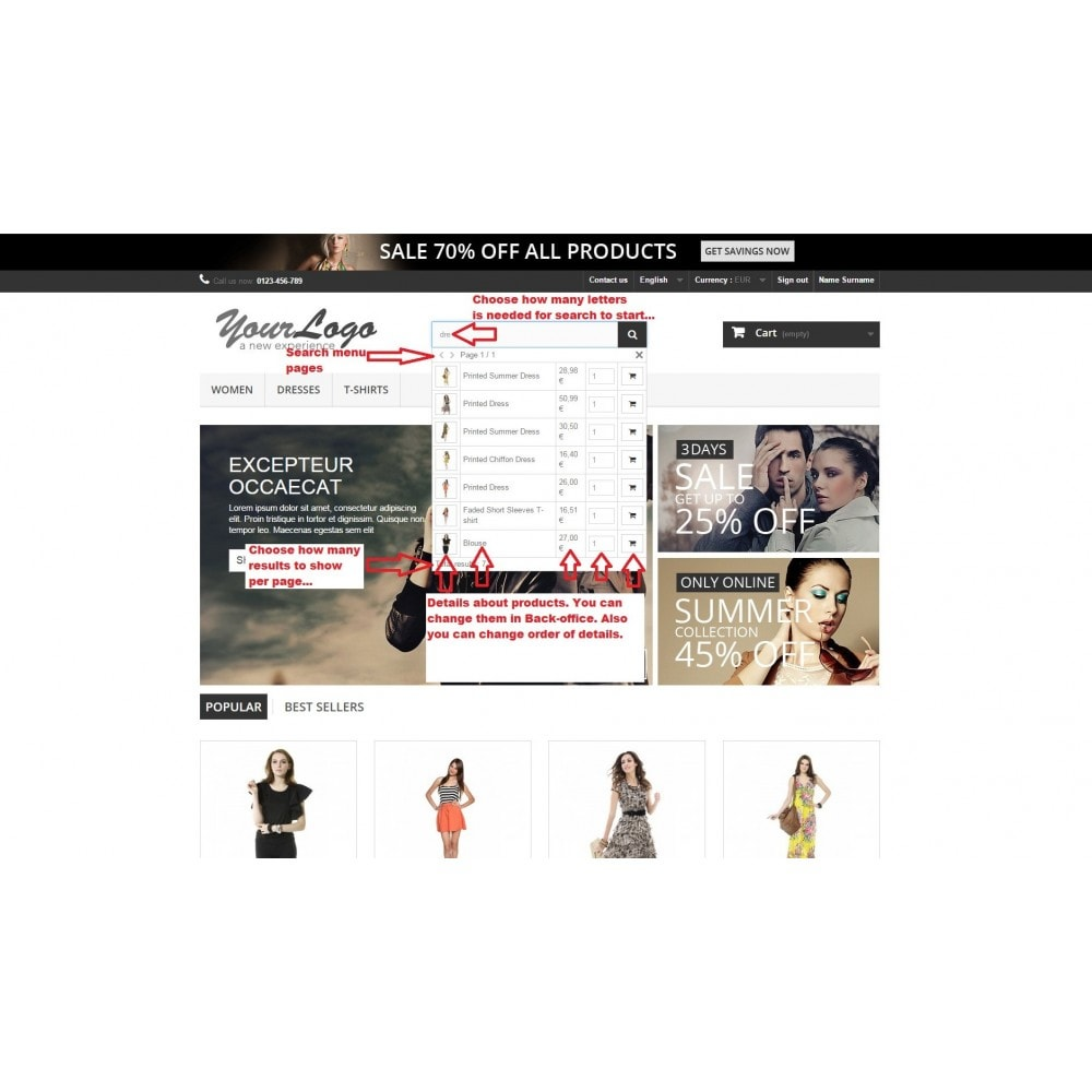 module - Suche & Filter - Advanced Autocomplete Search with Images & Add to Cart - 1