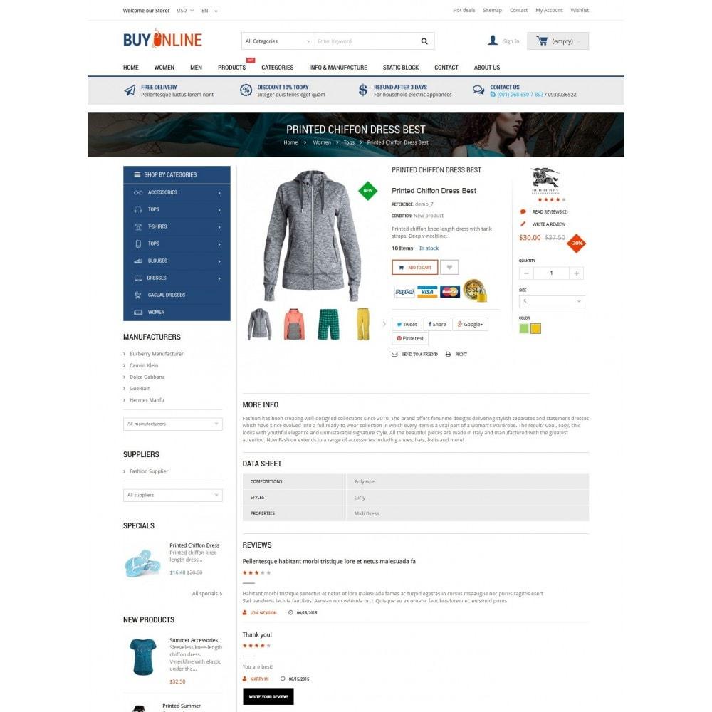 theme - Mode & Schoenen - BuyOnline - Fashion Store Responsive PrestaShop - 5
