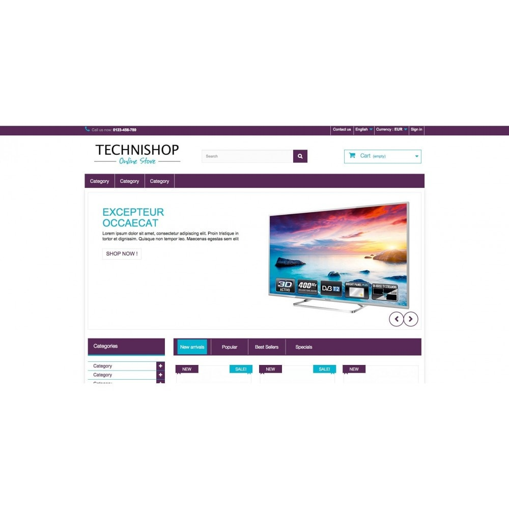 theme - Eletrônicos & High Tech - Technishop Store - 2