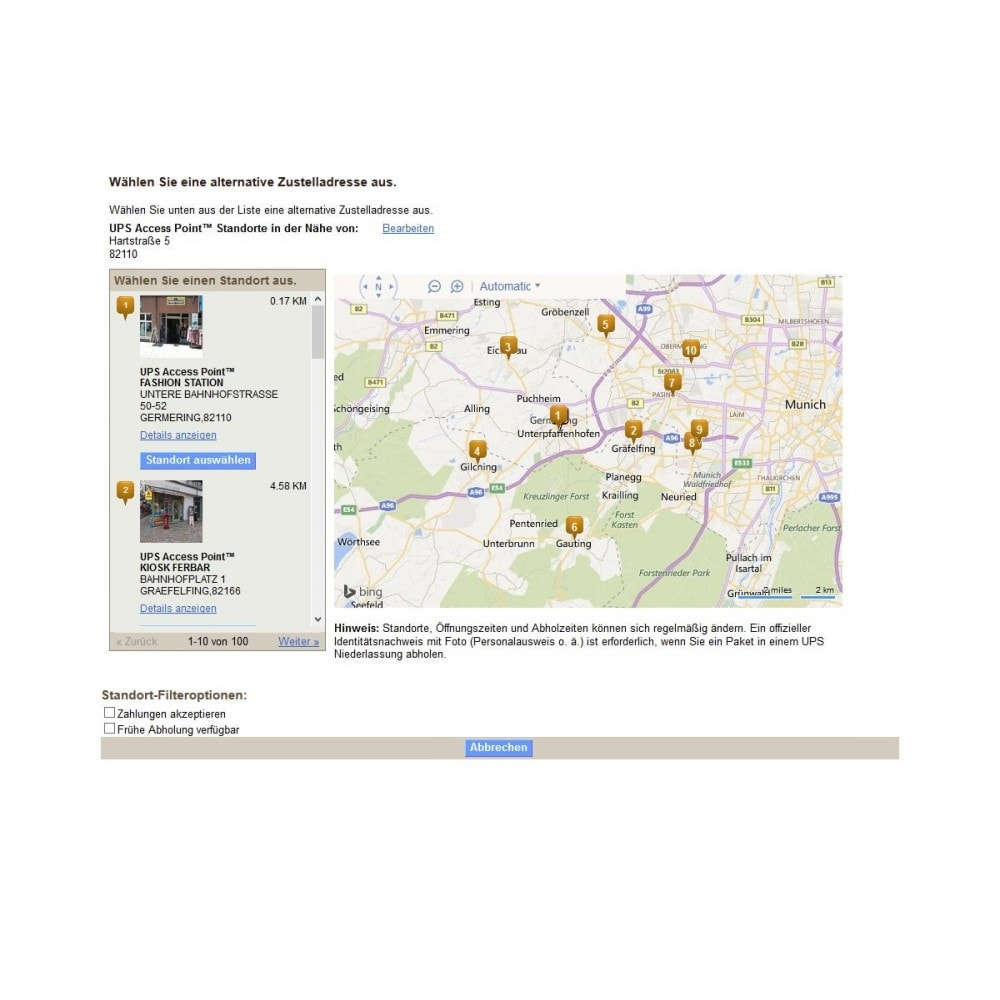 module - Point Relais & Retrait en Magasin - UPS Store Locator - 3